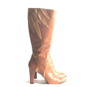 Cole Haan G Series Leather Heel Boots Women's 8.5B